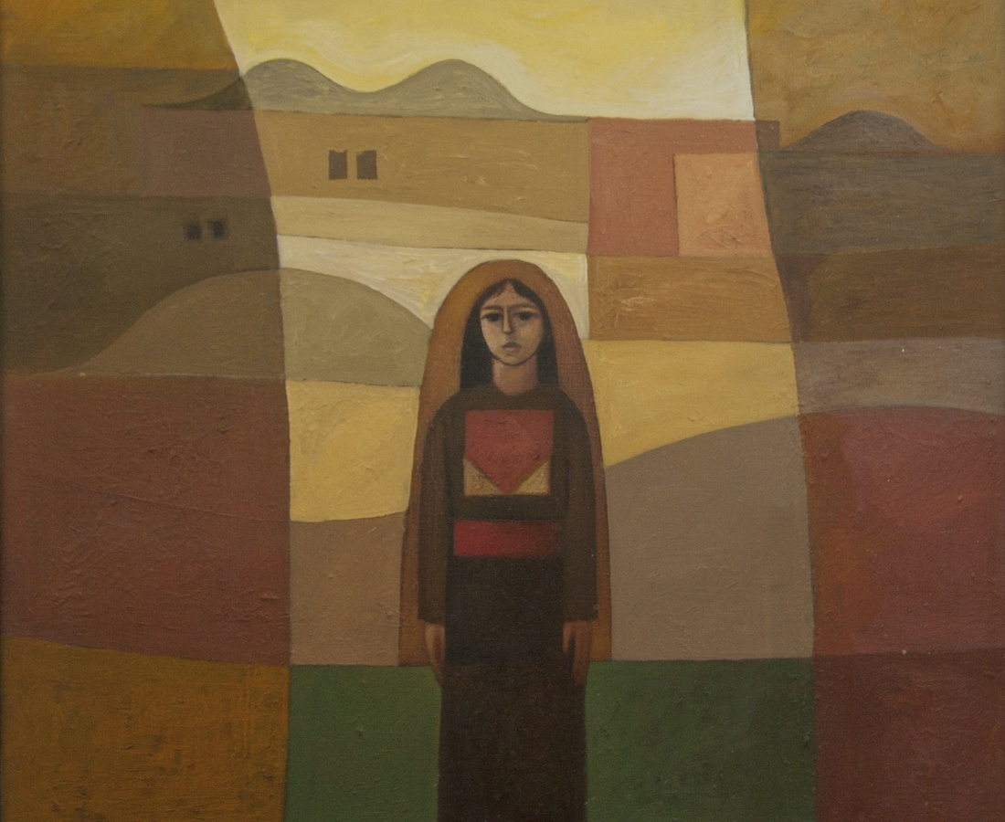 Girl in the Village Oil on canvas, 82 X 71 CM, 1982